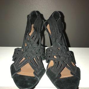 Donald J. Pliner Shoes - Donald J. Pliner Strappy Black Sandal Heels size 7